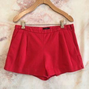 J. Crew EUC Pink Pique Pleated Shorts